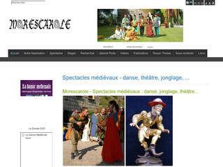 L\'association MORESCAROLE propose la resconstitution de spectacles médiévaux.