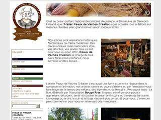 peaux-de-vaches-creation, un atelier situé au coeur du Parc National des Volcans d\'Auvergne, à 30 minutes de Clermont-Ferrand qui est spécialisé dans le travail du cuir,du textile, de la cire, du bois, de la pierre, du métal, des végétaux.